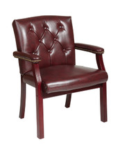 Office Star Traditional Visitors Chair with Padded Arms TV233