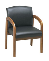 Office Star Medium Oak Finish Visitors Chair
