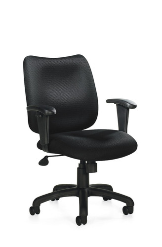 OFFICES TO GO-Management Seating-Pneumatic Tilter Chair w/height adjustable armrests OTG11612-QL10