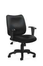 OFFICES TO GO-Management Seating-Pneumatic Tilter Chair w/height adjustable armrests OTG11612B