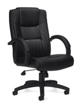 OFFICES TO GO-Leather (Luxhide*) Seating-Pneumatic Tilter Executive Chair OTG11618-BL20