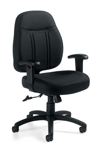 OFFICES TO GO-Management Seating-Medium Back Pneumatic Tilter Chair w/height adjustable armrests OTG11651-QL10