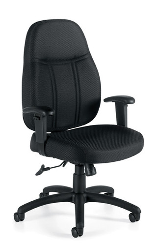 OFFICES TO GO-Management Seating-High Back Pneumatic Tilter Chair w/height adjustable armrests OTG11652-QL10