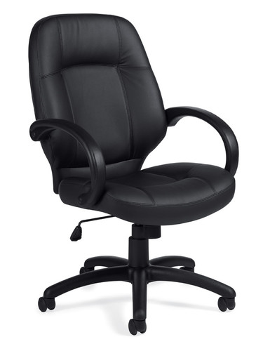 OFFICES TO GO-Leather (Luxhide*) Seating-High back executive chair. OTG2788-BL20
