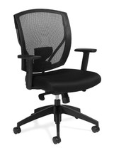 OFFICES TO GO-Mesh Seating-Mesh Synchro-Tilter Chair with height adjustable arms OTG2801-MS20