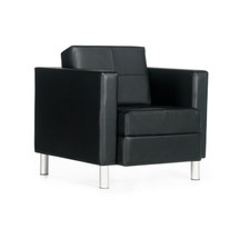 Global CITI-Lounge chair  BLACK/BLACK 7875TU-450/550