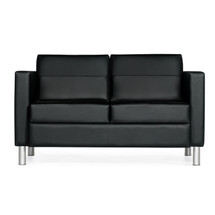 Global CITI-Two Seat Sofa BLACK/BLACK 7876TU-450/550