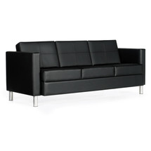 Global CITI-Three Seat Sofa BLACK/BLACK 7877TU-450/550