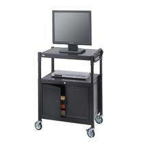 Safco Steel Adjustable AV Cart With Cabinet
