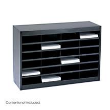 Safco E-Z Stor® Literature Organizer, 24 Letter Size Compartments