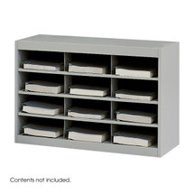 Safco E-Z Stor Steel Project Organizer, 12 Compartments