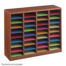 Safco E-Z Stor Wood Literature Organizer, 36 Compartments