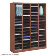 Safco E-Z Stor® Wood Literature Organizer, 60 Compartments