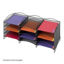 Safco Onyx™  12 Compartment Mesh Literature Organizer