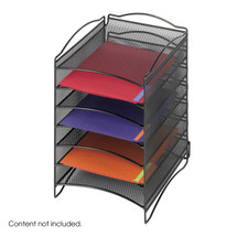 Safco Onyx™  6 Compartment Mesh Literature Organizer