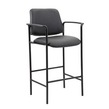 Boss Contemporary Counter Height Stool In Black Caressoft