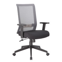 Boss Grey Horizontal Mesh Back Task Chair, Synchro-Tilt Mechanism