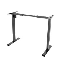 Single Motor, Height Adjustable Black Standing Desk Base (BASE ONLY - Order Top Separately Or Use Your Own)