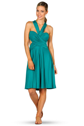 Convertible Bridesmaid Dress Midi - Jade