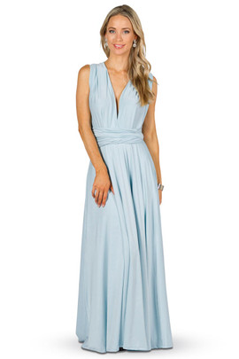 Convertible Bridesmaid Dress Maxi - Sky Blue
