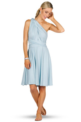 Convertible Bridesmaid Dress Midi - Sky Blue