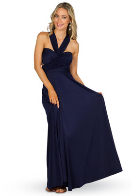 Convertible Bridesmaid Dress Maxi - Navy