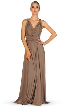 Convertible Bridesmaid Dress Maxi - Mocha