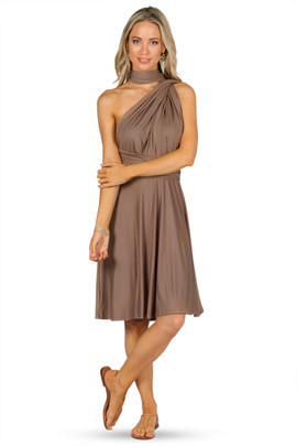 Convertible Bridesmaid Dress Midi - Mocha