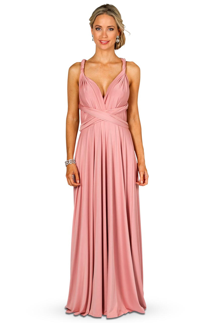 a920c25d4406 ... Convertible Bridesmaid Dress Maxi - Dusty Pink. Gallery Loading. Image 1