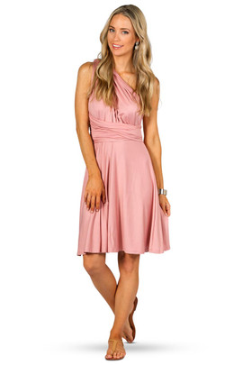 Convertible Bridesmaid Dress Midi - Dusty Pink