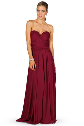 Convertible Bridesmaid Dress Maxi - Burgundy