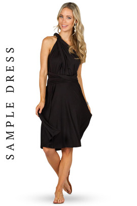Sample Convertible Bridesmaid Dress Midi - Black