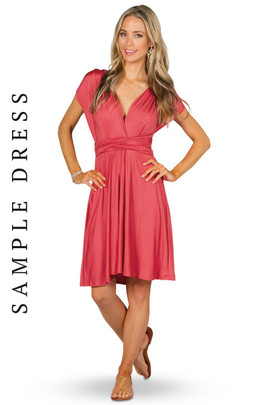 Sample Convertible Bridesmaid Dress Midi - Watermelon