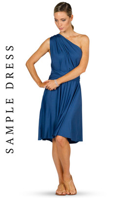 Sample Convertible Bridesmaid Dress Midi - Teal