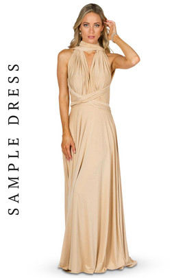 Sample Convertible Bridesmaid Dress Maxi - Champagne