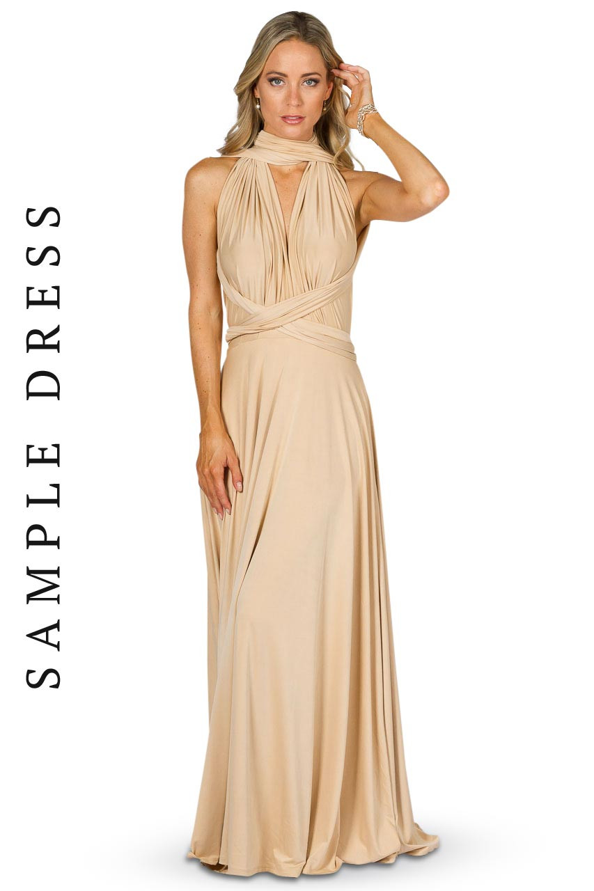 Sample Convertible Bridesmaid Dress Maxi