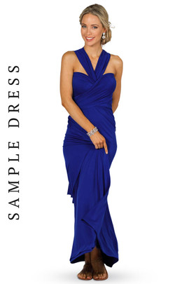 Sample Convertible Bridesmaid Dress Maxi - Cobalt