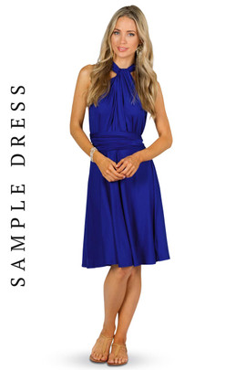 Sample Convertible Bridesmaid Dress Midi - Cobalt