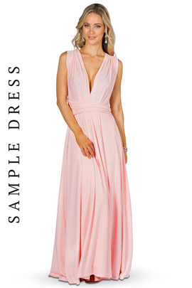 Sample Convertible Bridesmaid Dress Maxi - Pale Pink