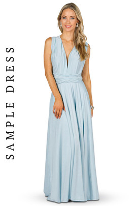 Sample Convertible Bridesmaid Dress Maxi - Sky Blue