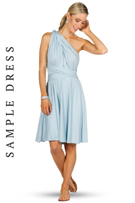 Sample Convertible Bridesmaid Dress Midi - Sky Blue