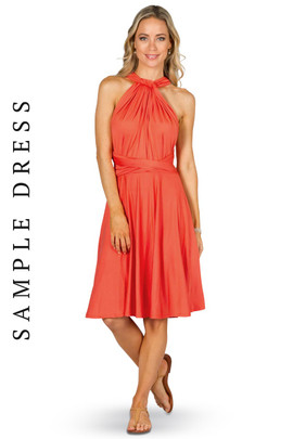 Sample Convertible Bridesmaid Dress Midi - Tangerine