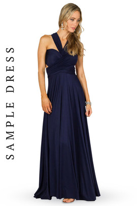 Sample Convertible Bridesmaid Dress Maxi - Navy