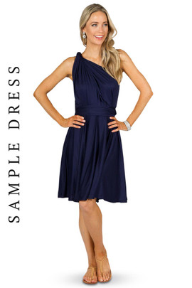 Sample Convertible Bridesmaid Dress Midi - Navy
