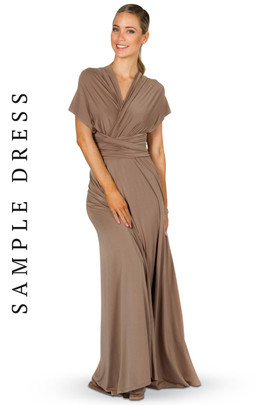 Sample Convertible Bridesmaid Dress Maxi - Mocha
