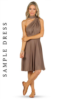 Sample Convertible Bridesmaid Dress Midi - Mocha