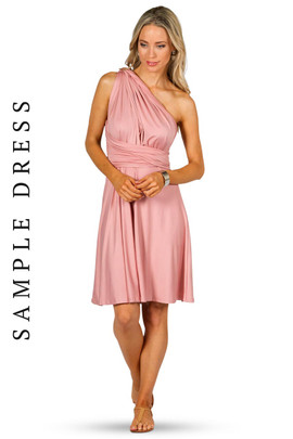 Sample Convertible Bridesmaid Dress Midi - Dusty Pink