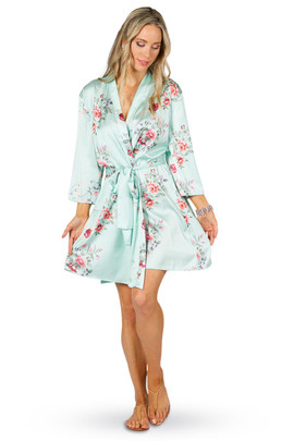 Bridal Robe - Mint Blossoms