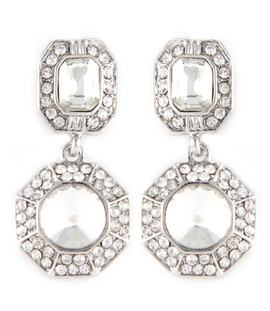 Silver Octagon Earrings