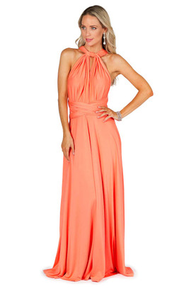 Convertible Bridesmaid Dress Maxi - Peach